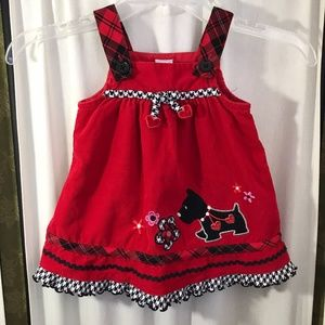 Infant Overall Dress Scottie Dog 18 months